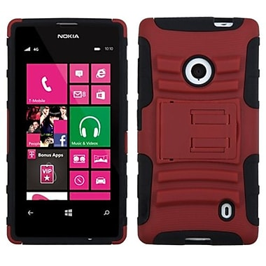 Insten® Advanced Armor Stand Protector Case For Nokia 521, Red/Black