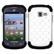 Insten® Lattice Dazzling Protector Cover For Samsung S738C/Galaxy Centura, White/Black