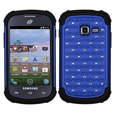 Insten® Lattice Dazzling Protector Cover For Samsung S738C/Galaxy Centura, Dark Blue/Black