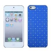 Insten® Luxurious Lattice Executive Dazzling Back Protector Cover W/Diamonds F/iPhone 5/5S, Blue