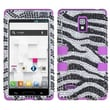 Insten® Diamante TUFF Hybrid Phone Protector Case For LG P769, Zebra/Electric Purple