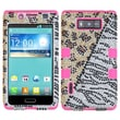 Insten® Diamante TUFF Hybrid Phone Protector Case For LG US730 Splendor, Hottie/Electric Pink