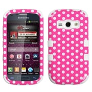 Insten® Hybrid Phone Protector Cover For Samsung M840/Galaxy Prevail 2, Dots/Pink/White