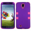 Insten® Rubberized TUFF Hybrid Phone Protector Case For Samsung Galaxy S4, Grape/Electric Pink