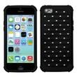 Insten® Luxurious Lattice Dazzling TotalDefense Protector Cover F/iPhone 5C, Black/Black