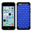 Insten® Luxurious Lattice Dazzling TotalDefense Protector Cover F/iPhone 5C, Dark Blue/Black