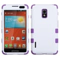 Insten® TUFF Hybrid Phone Protector Case For LG US780, Ivory White/Electric Purple
