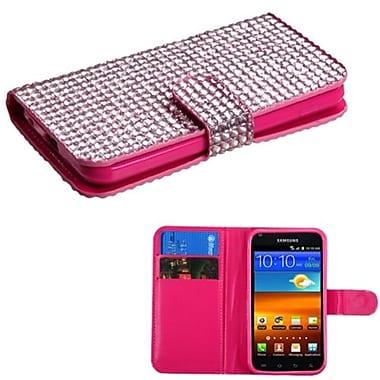 Insten® Diamonds Book-Style MyJacket Wallets For Samsung D710, R760, Galaxy S II S2 4G