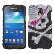 Insten® Diamante Protector Case For Samsung i537 (Galaxy S4 Active), Skull