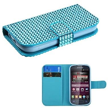 Insten® Diamonds Book-Style MyJacket Wallets For Samsung M840