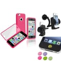 Insten® 1465992 3-Piece iPhone Sticker Bundle For iPhone 5C/iPad/iPod Touch