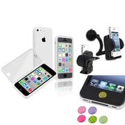Insten® 1466088 3-Piece iPhone Sticker Bundle For iPhone 5C/iPad/iPod Touch