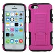 Insten® Rubberized Protector Case W/Car Armor Stand F/iPhone 5C, Hot-Pink/Black