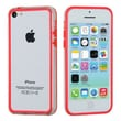 Insten® MyBumper Phone Protector Case F/iPhone 5C, Red/Transparent Clear