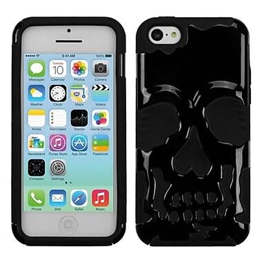 Insten® Skullcap Hybrid Protector Cover F/iPhone 5C, Solid Black/Black
