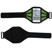 Insten® Vertical Pouch Universal Sport Armband W/Baby Green Mess Ports, Black