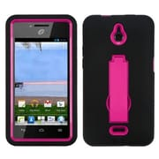 Insten® Symbiosis Stand Protector Case For Huawei H881C Ascend Plus, Hot-Pink/Black