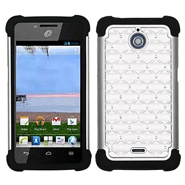 Insten® Luxurious Lattice Dazzling Protector Case For Huawei H881C/Y301, White/Black
