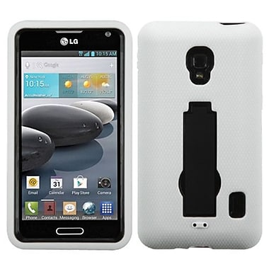 Insten® Symbiosis Stand Protector Case For LG D500, Black/White