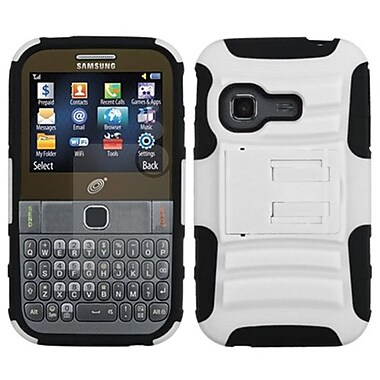 Insten® Advanced Armor Stand Protector Case For Samsung S390G, White/Black
