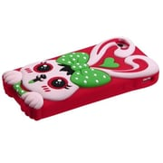 Insten® Pastel Skin Cover For iPhone 4/4S, Green/Red Rabbit