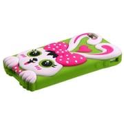 Insten® Pastel Skin Case F/iPhone 4/4S, Hot-Pink/Grass Green
