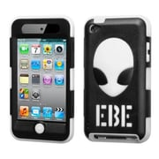 Insten® AlienHead Hybrid Phone Protector Cover For iPod Touch 4th Gen, Natural Black/White