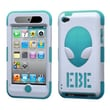 Insten® AlienHead Hybrid Phone Protector Covers For iPod Touch 4th Gen