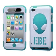 Insten® AlienHead Hybrid Phone Protector Cover For iPod Touch 4th Gen, Ivory White/Tropical Teal