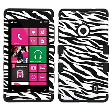 Insten® TUFF Hybrid Phone Protector Case For Nokia Lumia 521, Zebra Skin/Black