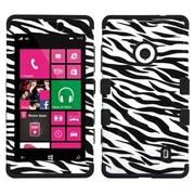 Insten® TUFF Hybrid Phone Protector Case For Nokia Lumia 521, Zebra Skin/Black