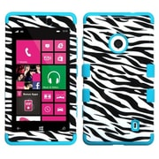 Insten® TUFF Hybrid Phone Protector Case For Nokia Lumia 521, Zebra Skin/Tropical Teal