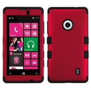 Insten® TUFF Hybrid Phone Protector Case For Nokia 521, Titanium Red/Black