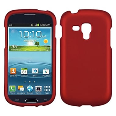 Insten® Phone Protector Case For Samsung i407 (Galaxy Amp), Titanium Solid Red
