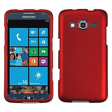 Insten® Phone Protector Case For Samsung I8675 ATIV S Neo, Titanium Solid Red