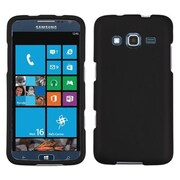 Insten® Rubberized Phone Protector Cover For Samsung I8675 ATIV S Neo, Black