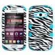 Insten® TUFF Hybrid Phone Protector Case For Samsung M840, Zebra Skin/Tropical Teal
