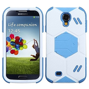 Insten® Hybrid Protector Case With Baby Blue Stand) For Samsung Galaxy S4, White/Baby Blue