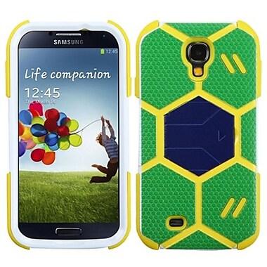 Insten® Hybrid Protector Case With Dark Blue Stand For Samsung Galaxy S4, Green/Beige Goalkeeper