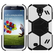 Insten® Hybrid Protector Case With Black Stand For Samsung Galaxy S4, White/Black Goalkeeper