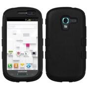 Insten® TUFF Hybrid Phone Protector Case For Samsung T599 Galaxy Exhibit, Black/Black