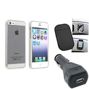 Insten® 1474547 3-Piece iPhone Car Charger Bundle For Apple iPhone 5/5S