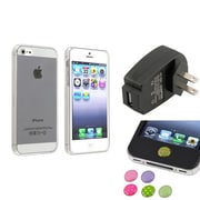 Insten® 1474558 3-Piece iPhone Case Bundle For Apple iPhone 5/5S, Apple iPhone/iPad/iPod Touch