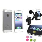 Insten® 1474563 3-Piece iPhone Case Bundle For Apple iPhone 5/5S