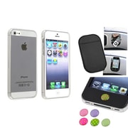 Insten® 1474566 3-Piece iPhone Case Bundle For Apple iPhone 5/5S, Apple iPhone/iPad/iPod Touch