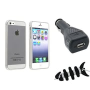 Insten® 1474583 3-Piece iPhone Car Charger Bundle For Apple iPhone 5/5S