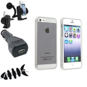 Insten® 1474590 4-Piece iPhone Car Charger Bundle For Apple iPhone 5/5S