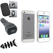 Insten® 1474593 4-Piece iPhone Car Charger Bundle For Apple iPhone 5/5S