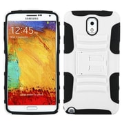 Insten® Advanced Armor Stand Protector Cover For Samsung Galaxy Note 3, White/Black
