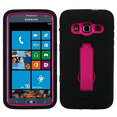Insten® Symbiosis Stand Protector Cover For Samsung i800 ATIV S Neo, Hot-Pink/Black
